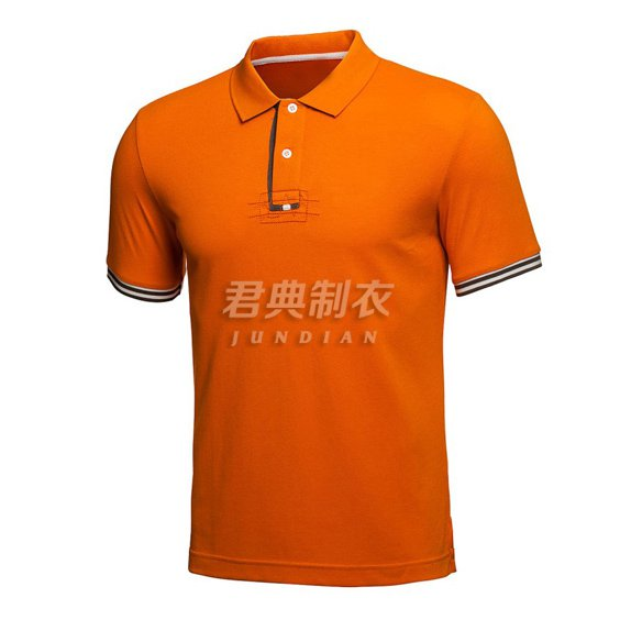 桔色广告polo衫1