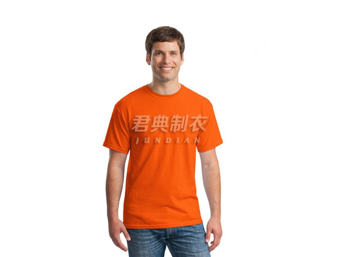 橙色纯棉空白文化衫