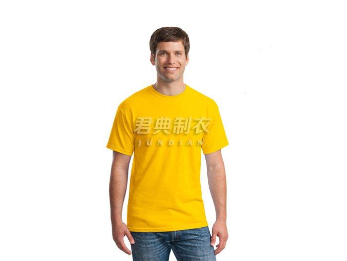 黄色纯棉空白文化衫