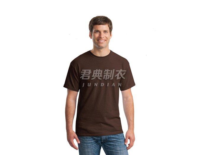 咖啡色纯棉空白文化衫