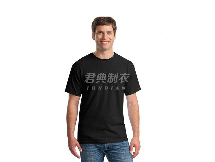 黑色纯棉空白文化衫