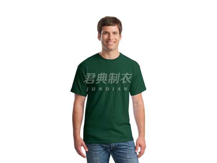 深绿色空白纯棉文化衫