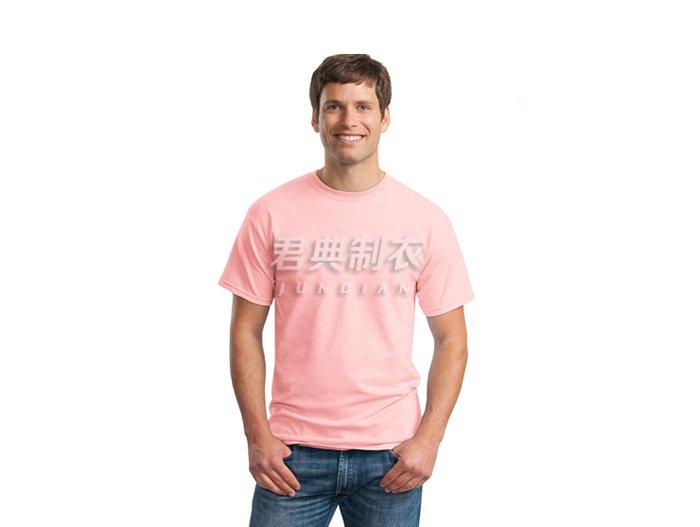 粉红色纯棉空白文化衫