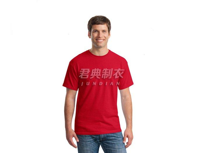 红色纯棉空白文化衫