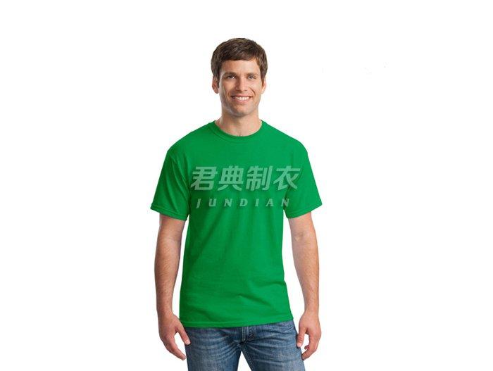 草绿色纯棉空白文化衫