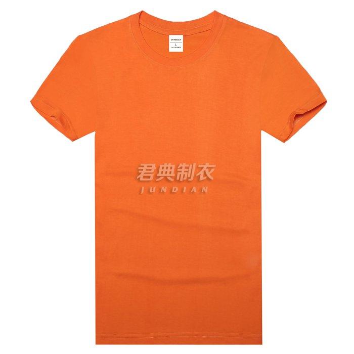 橘色圆领T恤