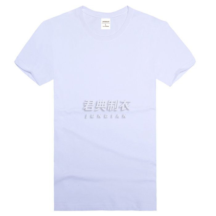 白色圆领T恤