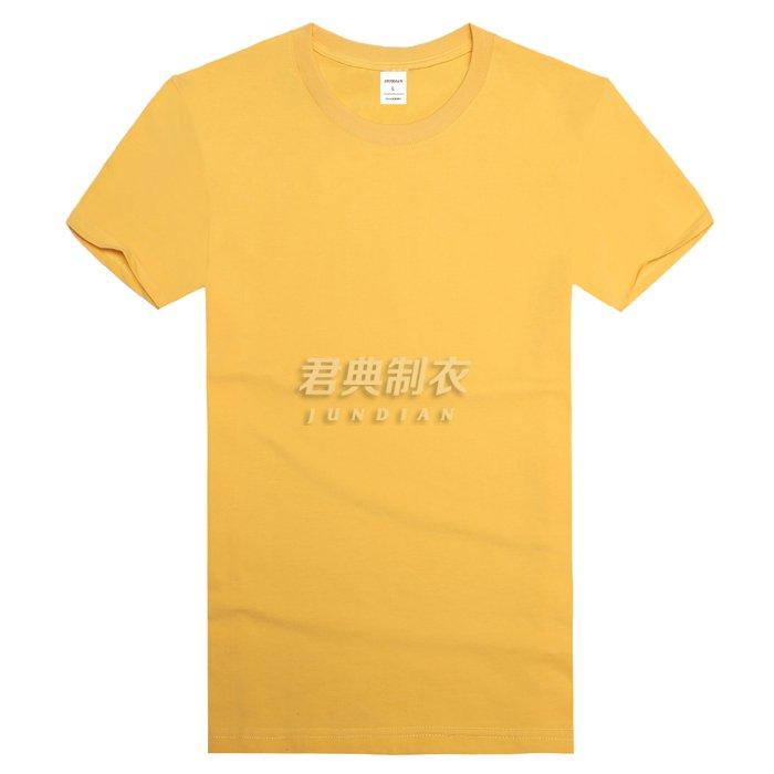 黄色高档莱卡棉T恤