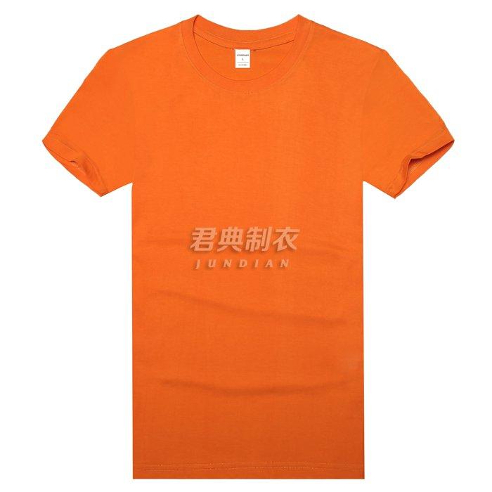 橘色高档莱卡棉T恤